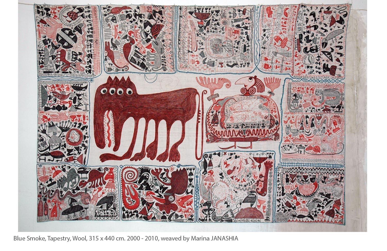 KAKO-Blue-Smoke-Tapestry-Wool-315-x-440-cm.-2000-2010-weaved-by-Marina-JANASHIA