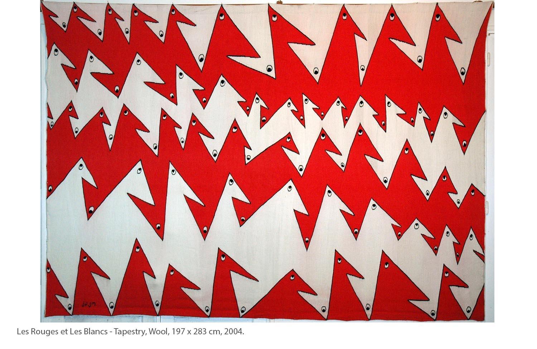 KAKO-Les-Rouges-et-Les-Blancs-Tapestry-Wool-197-x-283-cm-2004.
